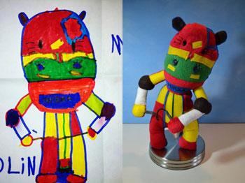 игрушки по рисункам детей