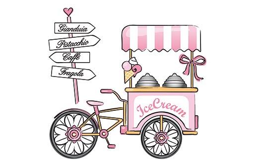 продажа кофе, чая, пирожков с велосипеда - тележки в пробках