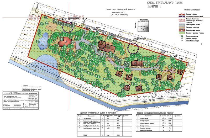 план туристической базы